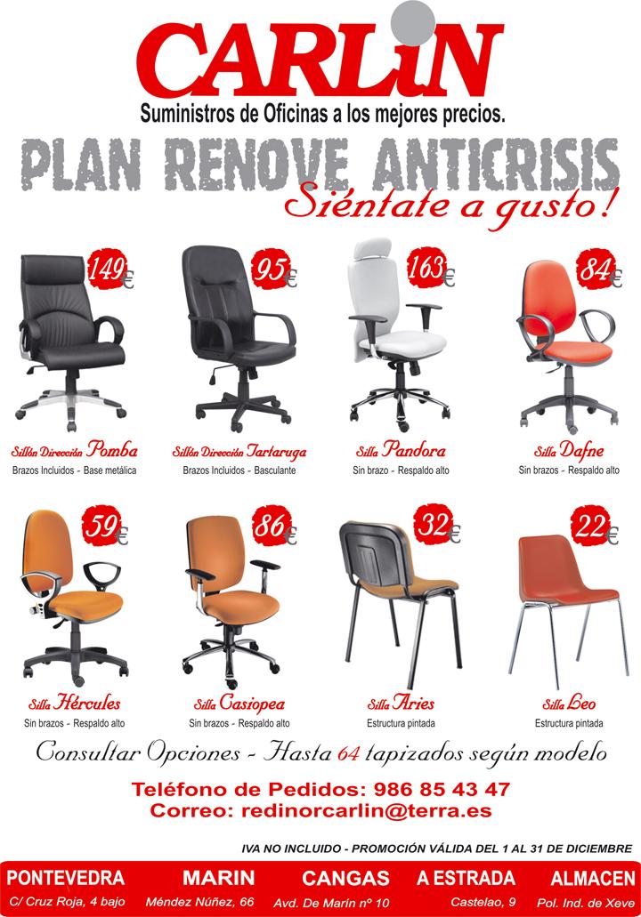 Sillas de oficina a los mejores precios en carlin for Precio de sillones para oficina